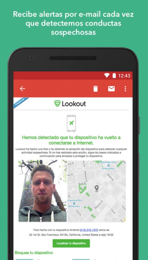 Lookout - Seguridad, backup, dispositivo perdido