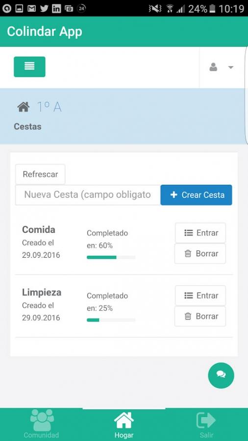 Colindar App