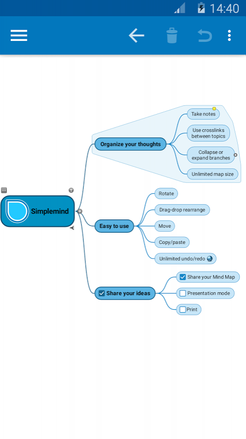 SimpleMind Pro mind mapping