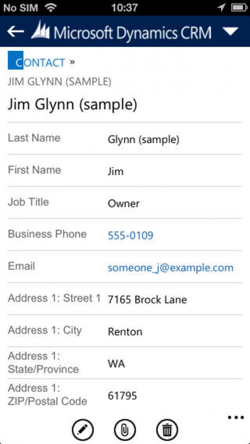 Dynamics CRM for phones express